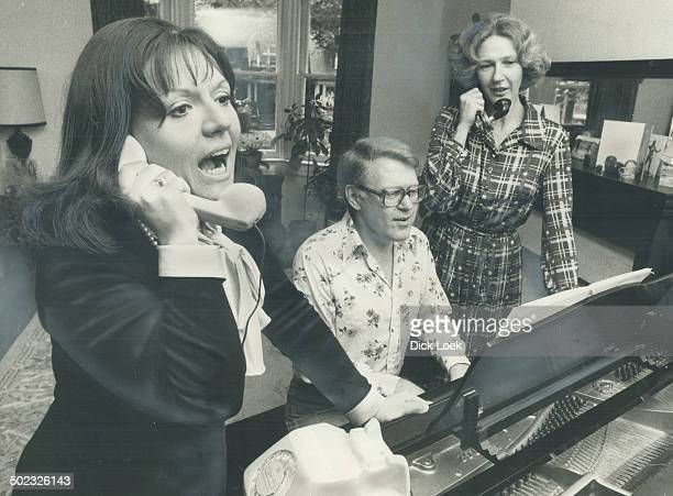Stuart Hamilton rehearses the first production of this season's Opera in Coccert with soprano Carrol Anne Curry and his sister actress Patricia...