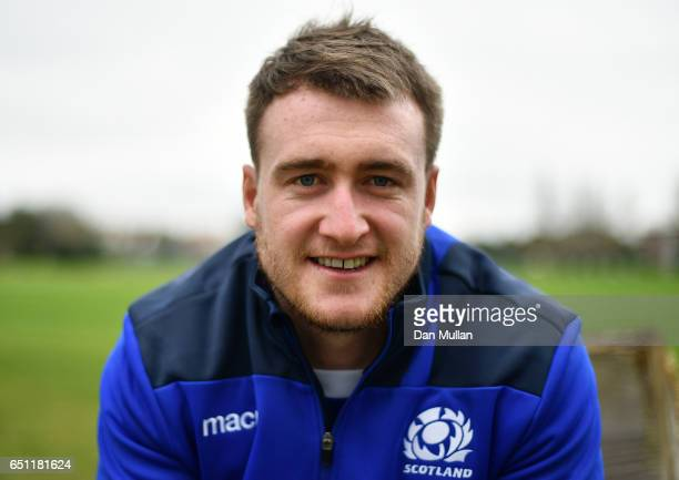 Stuart Hogg of Scotland poses for a portrait following a press conference at The Lensbury on March 10 2017 in Teddington England