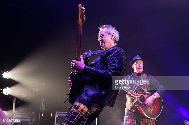 Stuart John Wood and Alan Longmuir of The Bay City Rollers perform at Eventim Apollo on December 14 2016 in London England