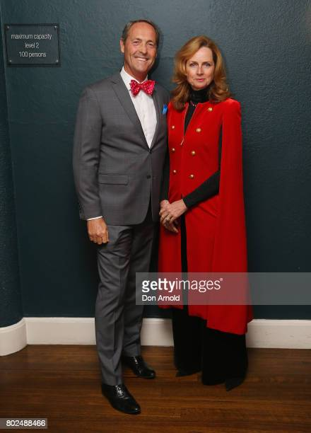 Stuart King and Naomi Simson arrive ahead of The Harry M Miller Group 20th Anniversary Party on June 28 2017 in Sydney Australia