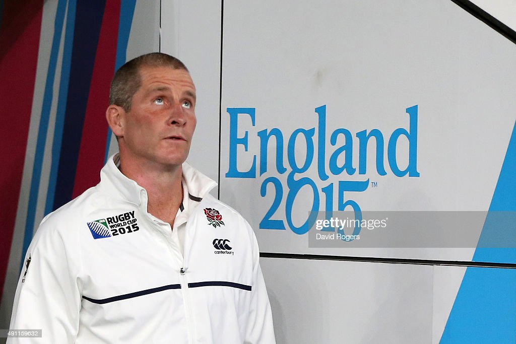 <a gi-track='captionPersonalityLinkClicked' href=/galleries/search?phrase=Stuart+Lancaster&family=editorial&specificpeople=2263180 ng-click='$event.stopPropagation()'>Stuart Lancaster</a>, Head Coach of England during the 2015 Rugby World Cup Pool A match between England and Australia at Twickenham Stadium on October 3, 2015 in London, United Kingdom.