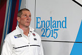 Stuart Lancaster Head Coach of England during the 2015 Rugby World Cup Pool A match between England and Australia at Twickenham Stadium on October 3...