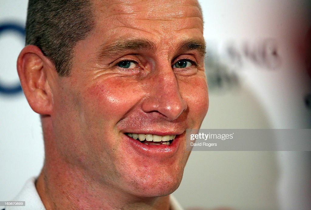 <a gi-track='captionPersonalityLinkClicked' href=/galleries/search?phrase=Stuart+Lancaster&family=editorial&specificpeople=2263180 ng-click='$event.stopPropagation()'>Stuart Lancaster</a>, the England head coach faces the media after the England training session at Pennyhill Park on March 14, 2013 in Bagshot, England.