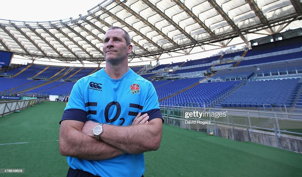 <a gi-track='captionPersonalityLinkClicked' href=/galleries/search?phrase=Stuart+Lancaster&family=editorial&specificpeople=2263180 ng-click='$event.stopPropagation()'>Stuart Lancaster</a>, the England head coach looks around the stadium during the England captain's run at the Stadio Olimpico on March 14, 2014 in Rome, Italy.