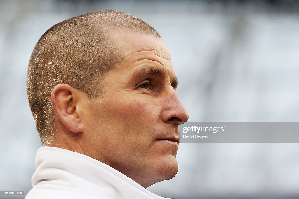 Stuart Lancaster the Head Coach of England looks on during the RBS Six Nations match between Ireland and England at Aviva Stadium on February 10, 2013 in Dublin, Ireland.