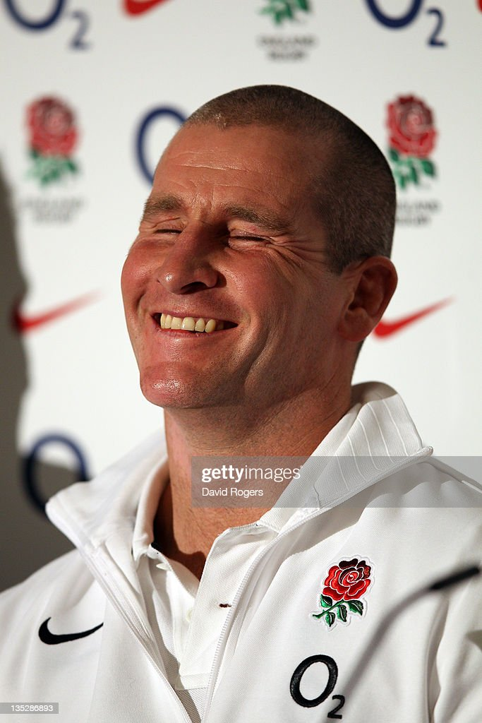 <a gi-track='captionPersonalityLinkClicked' href=/galleries/search?phrase=Stuart+Lancaster&family=editorial&specificpeople=2263180 ng-click='$event.stopPropagation()'>Stuart Lancaster</a>, who has been appointed the intermin England head coach smiles during the press conferance to announce the RFU interim coaching team of <a gi-track='captionPersonalityLinkClicked' href=/galleries/search?phrase=Stuart+Lancaster&family=editorial&specificpeople=2263180 ng-click='$event.stopPropagation()'>Stuart Lancaster</a>, Andy Farrell and Graham Rowntree at Twickenham Stadium on December 8, 2011 in London, England.