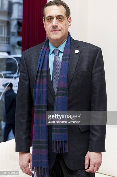 Stuart Milk president of Harvey Milk Foundation attends a press conference at Hotel de la Letras on January 16 2017 in Madrid Spain During the event...