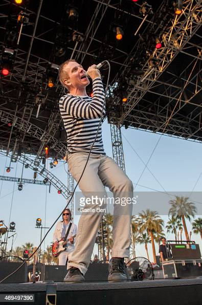Stuart Murdoch of Belle Sebastian performs on stage at Coachella Festival at The Empire Polo Club on April 11 2015 in Indio United States