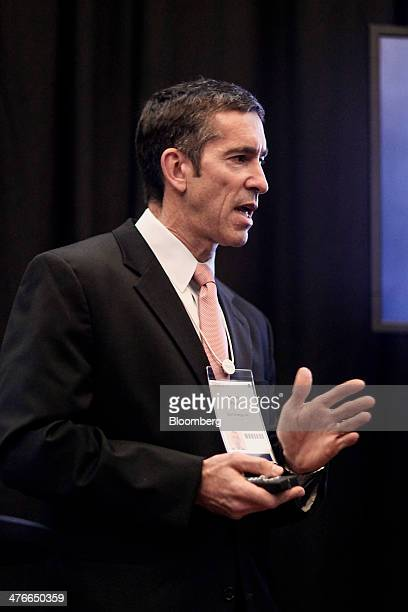 Stuart Page president and chief executive officer of Glori Energy speaks during the 2014 IHS CERAWeek conference in Houston Texas US on Tuesday March...