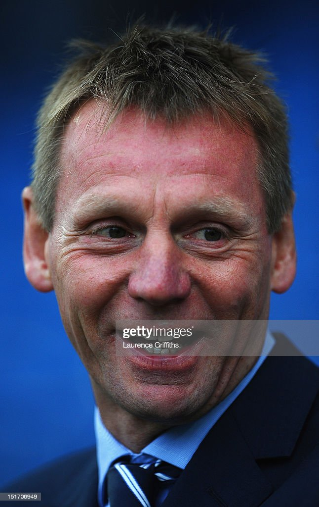 Stuart Pearce of England looks on during the UEFA Under-21 EURO 2013 Group 8 Qualifier between England and Norway at Proact Stadium on September 10, 2012 in Chesterfield, England.