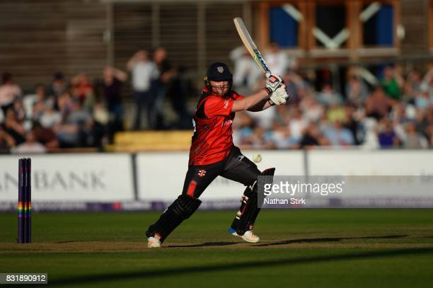 Stuart Poynter of Durham Jets batting during the NatWest T20 Blast match between Derbyshire Falcons and Durham Jets at The 3aaa County Ground on...