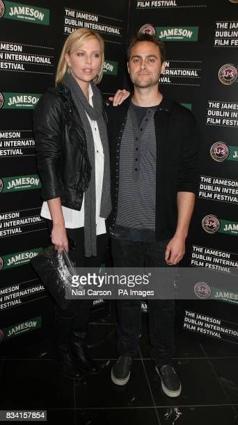 Stuart Townsend and Charlize Theron arrive at The Jameson Dublin International Film Festival held at the Savoy Cinema O'Connell St Dublin for a...
