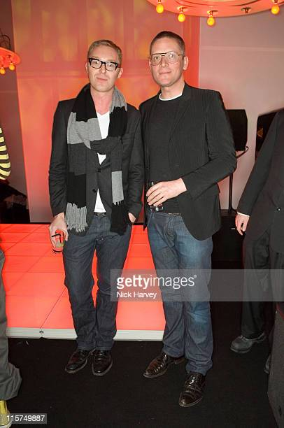 Stuart Vevers and Giles Deacon during Mulberry For Giles Bags Launch Party Inside Arrivals at Harvey Nichols in London Great Britain