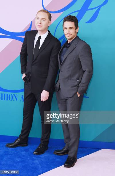 Stuart Vevers and James Franco attend the 2017 CFDA Fashion Awards at Hammerstein Ballroom on June 5 2017 in New York City