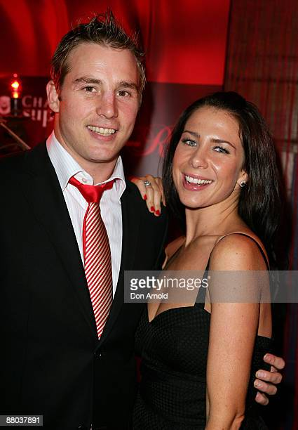 Stuart Webb and Kate Ritchie attend the Chandon Supper Club after party at The Club in Kings Cross on May 21 2009 in Sydney Australia