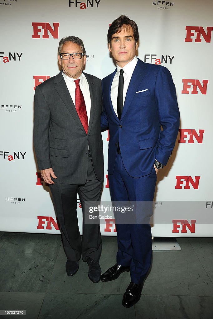 Stuart Weitzman and Michael Atmore attend 2012 Footwear News Achievement Awards at MOMA on November 27, 2012 in New York City.