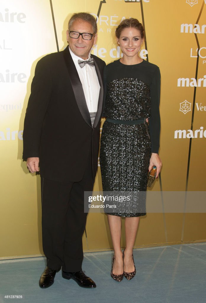 Stuart Weitzman and Olivia Palermo attend 'Marie Claire Prix de la moda' awards 2013 photocall at Residence of France on November 21 2013 in Madrid...
