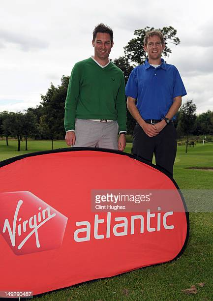 Stuart Wilson and David Dickson of Eastwood Golf Club pose for photos after winning the Virgin Atlantic PGA National ProAm Championship Regional...