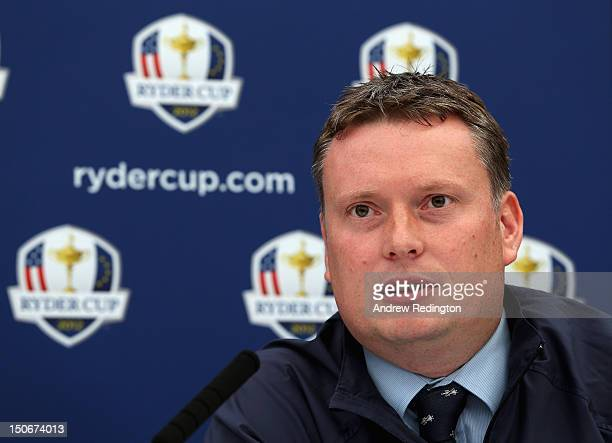 Stuart Wilson European Junior Ryder Cup Captain talks to the media during the announcement that Blairgowrie Golf Club will host The 2014 Junior Ryder...
