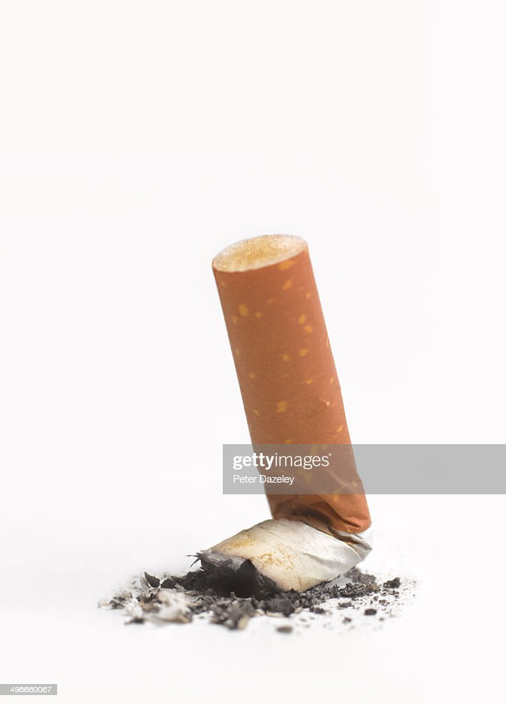 Stubbed out cigarette