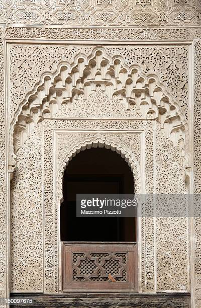 Stucco decorations at Bou Inania Medersa in Fez