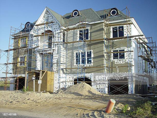 Stucco Wall Construction : Stucco stock photos and pictures getty images
