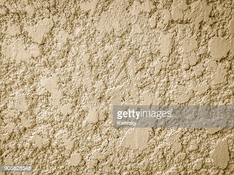 Stucco mortar plastered wall texture with grey and rough surface background. : Stock Photo