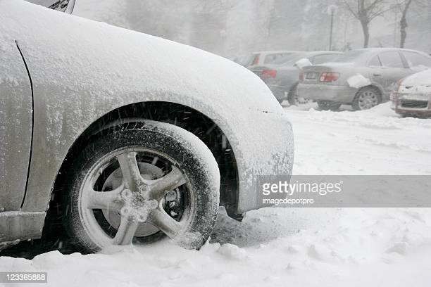 stuck in parking lot