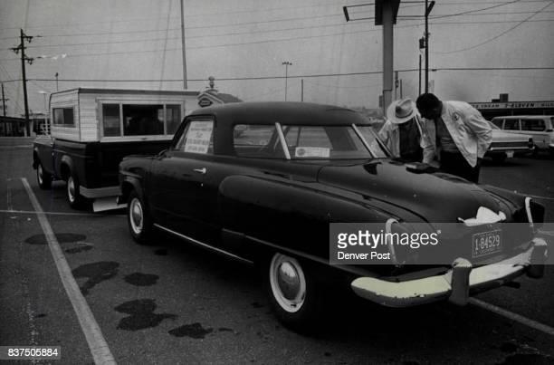 Studebaker Headed for Museum Carl Parmer left of 2976 Zenobia St regional director of the Studebaker Drivers Club and John H Kohn 4500 Winona Court a...