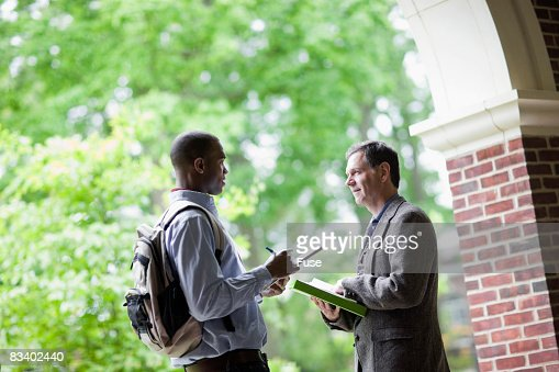 Student and Professor Talking