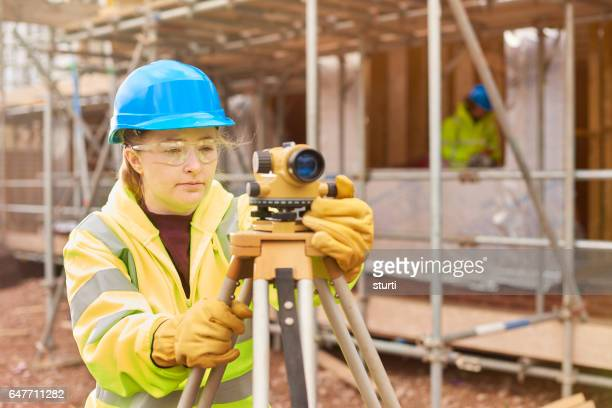 student at construction college