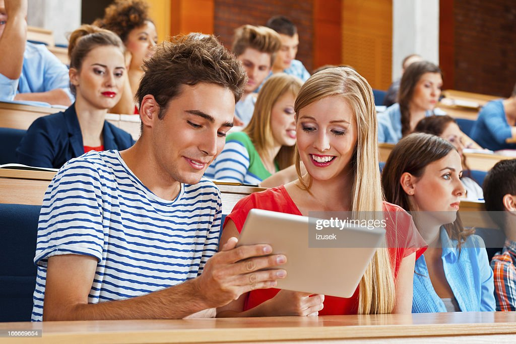 Student at the university : Stock Photo