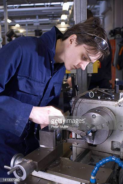 Student at work in shop class