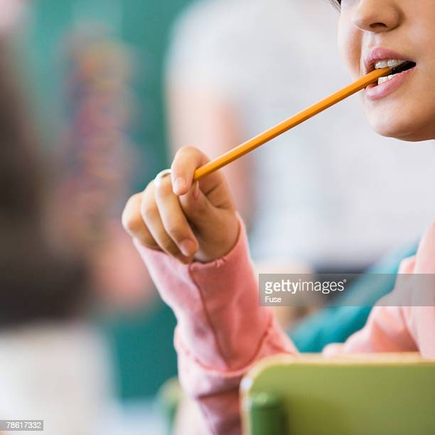 Student Chewing on Pencil
