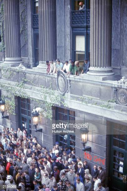 Student demonstration and riot at Columbia University New York City April 24 1968
