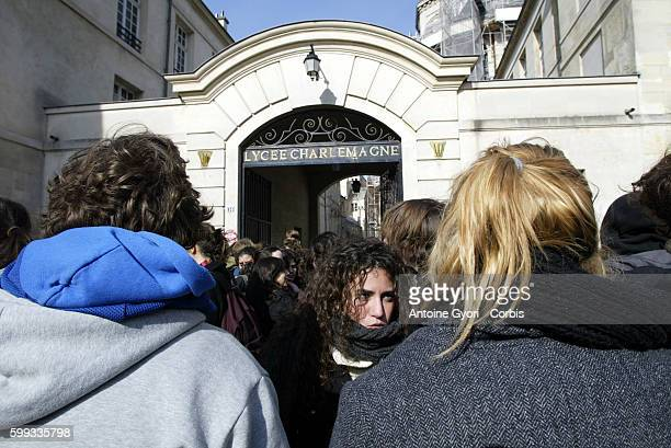 Student demonstrators from Jussieu University protest against Dominique de Villepin's governmental plan to introduce the CPE or First Employment...