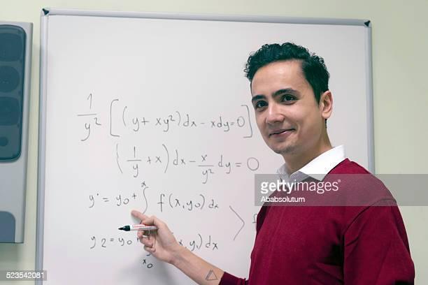 Student Explaining Math at Secondary School, University inIstanbul, Turkey