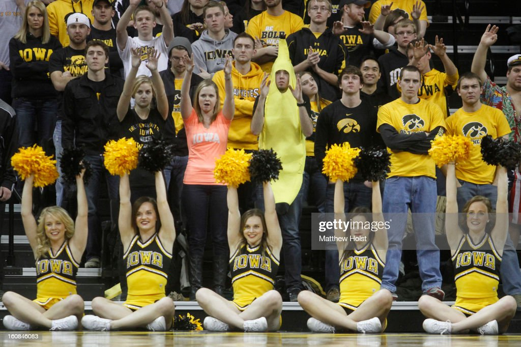 Student fans of the Iowa Hawkeyes watch a free throw shot during the second half against the Penn State Nittany Lions on January 31, 2013 at Carver-Hawkeye Arena in Iowa City, Iowa. Iowa won 76-67.