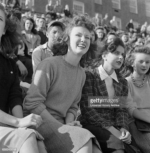 Student Fans Watching High School Football Game Washington DC USA Esther Bubley for Office of War Information October 1943