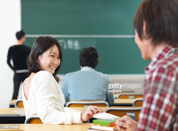 Student flirting