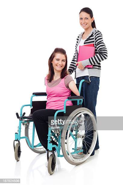 Student Friends, One In Wheelchair