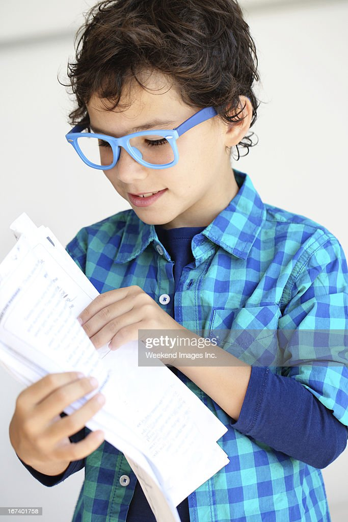 Student holding a test : Stock Photo