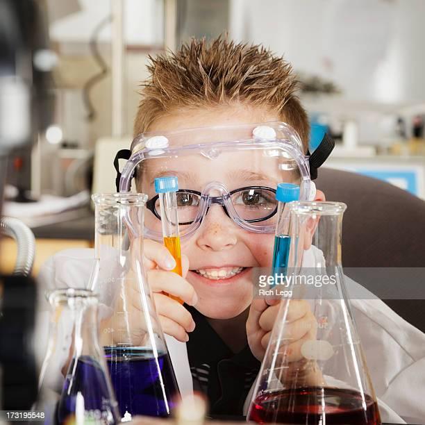 Student in einem Labor
