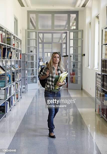 student in corridor of school