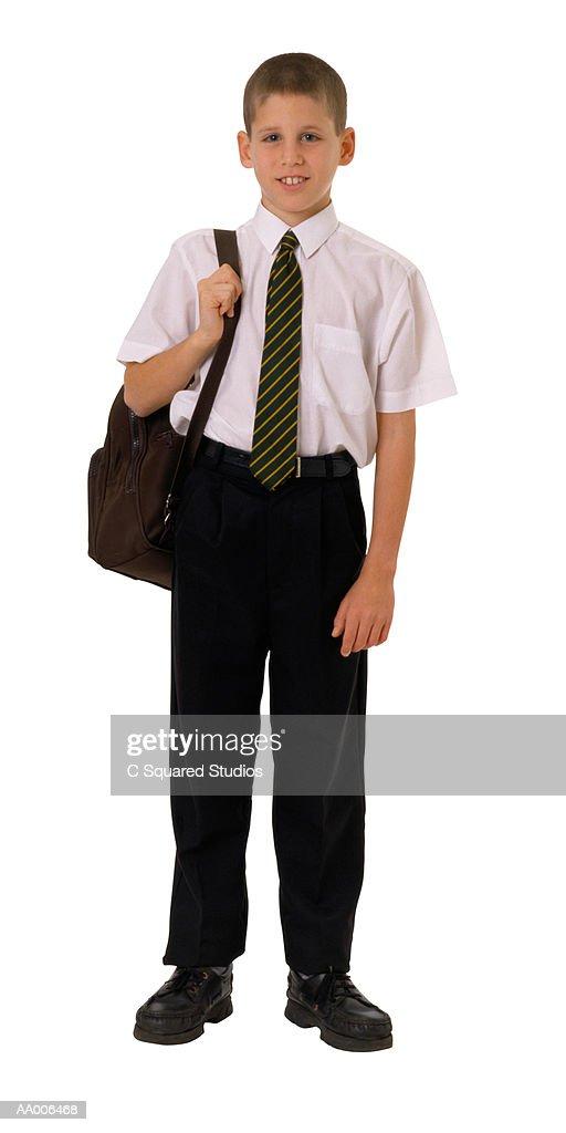 Student in Uniform : Stock Photo