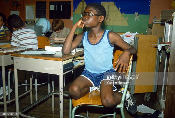 A student is photographed June 17 1986 at an elementary school in Yonkers New York In 1980 the Justice Department and the Yonkers branch of the...
