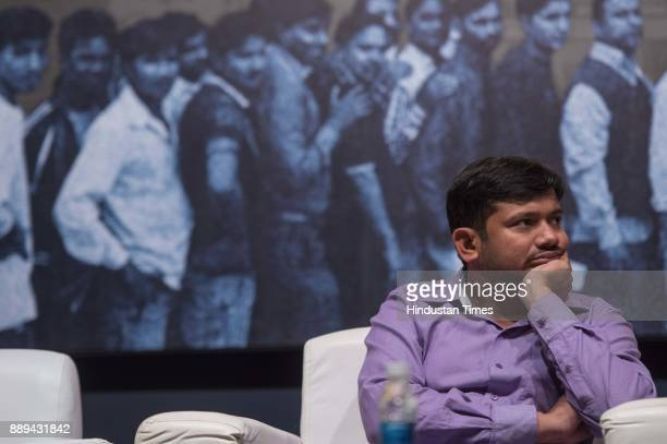 Student leader Kanhaiya Kumar during an inaugural session of Mumbai Collective's event for celebrating freedom and pluralism in society at YB Chavan...