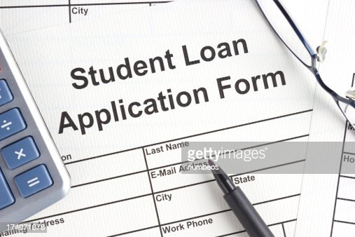 Student Loan Application Form Stock Photo | Getty Images