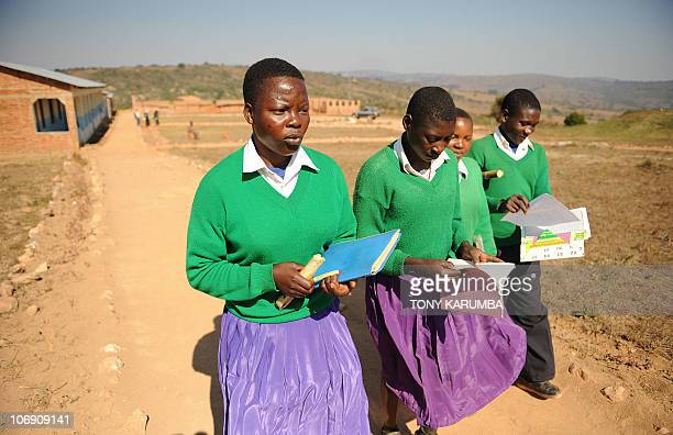 Student of Mtitu Secondary School Snoda [L] and some of her classmates attending school at Kilolo district approximately 500 kilometres southwest of...