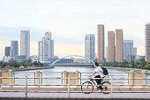 Student on a Bike.Ningbo China